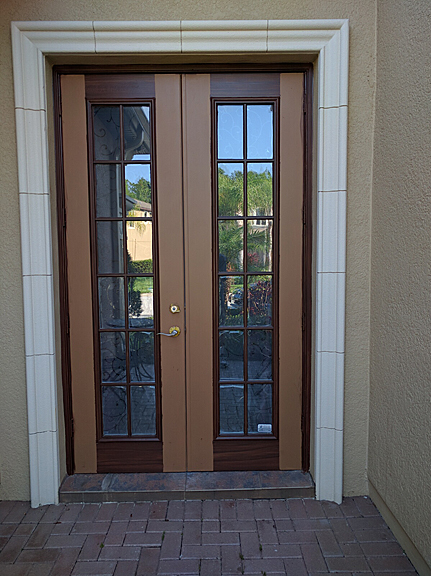 Entry Doors And French Doors Painted To Look Like Wood