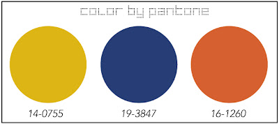 Pantone color - Cobalt, orange, and yellow Cozy•Stylish•Chic