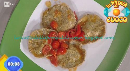 Sombreri di scamorza e carciofi con salsa di pomodorini ricetta Bongiovanni da Prova del Cuoco