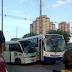 Micro - ônibus colidiu com ônibus em frente ao terminal rodoviário Cidade da Esperança