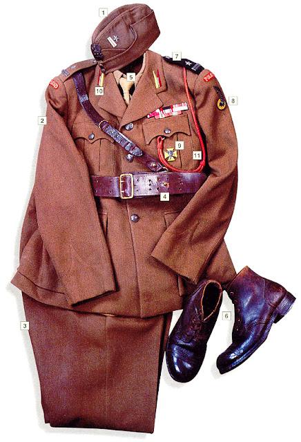 WW2 Military uniform - Major, 1st Polish Armoured Division (UK) 1942-43