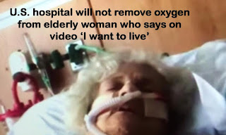 U.S. hospital will not remove oxygen from elderly woman who says on video 'I want to live'