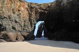 arco de piedra, playa de las catedrales, erosión, paisajes vivos, paisajes de Galicia, Munimara,