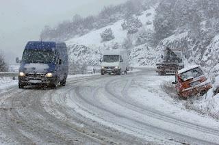 1-12-2016 Κατάσταση του οδικού δικτύου στην Κεντρική Μακεδονία