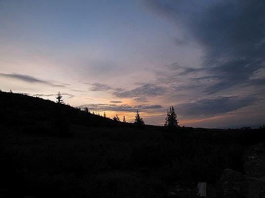 Słońce zaszło już za horyzont.