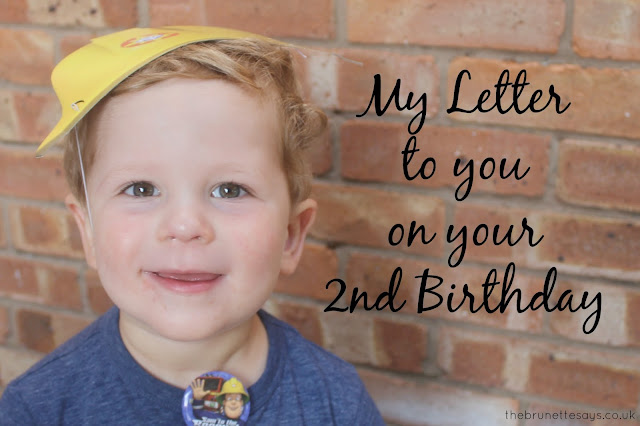 birthday, letter, son, 2nd birthday, boys