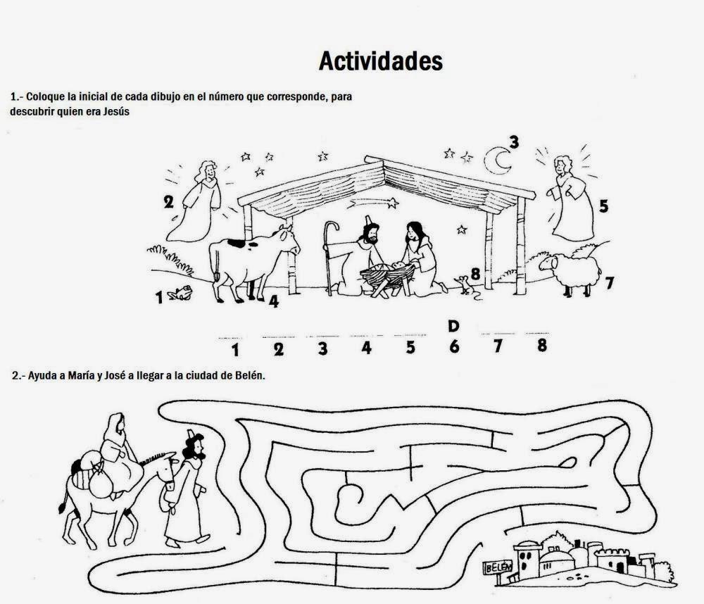 Imagenes Cristianas Para Colorear Dibujo De Maria Y José