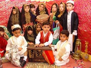 Vaikai Qarqī'ān šventės metu