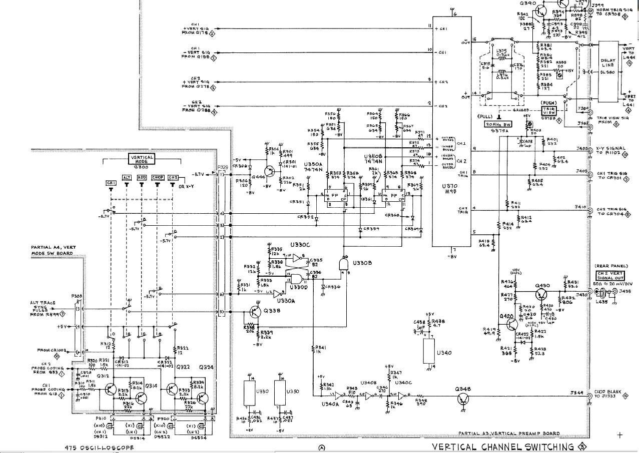 Musings Of A Wahz Tektronix 475 Channel Selection And Channel 1 Problems