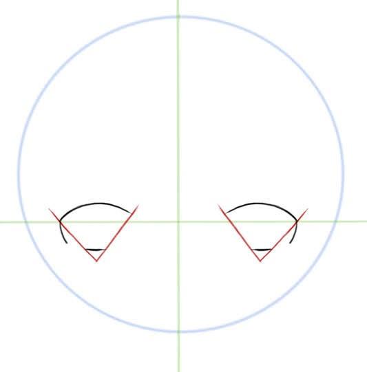 dessiner les bordures des yeux