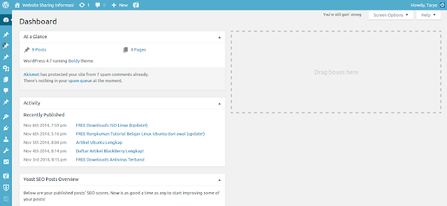 Belajar mengenal Menu Settings di Wordpress versi Terbaru