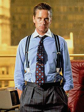 Michael Douglas and Gordon Gekko in Wall Street