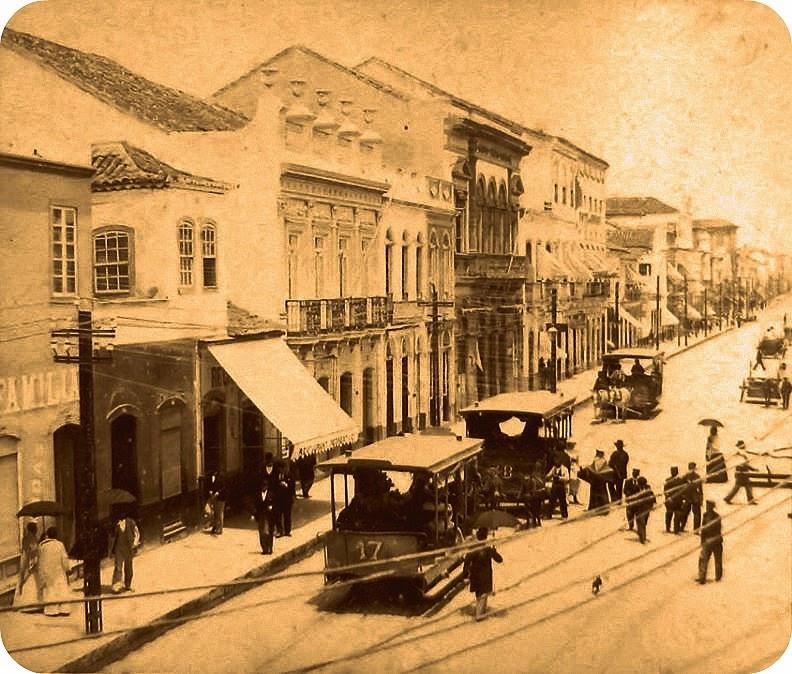 Porto Alegre: Rua dos Andradas, em 1895
