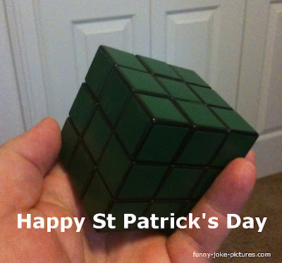 Happy St Patrick's Day Rubik Cube