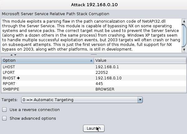 hack windows 10 with armitage