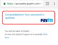 how to change password for paytm account