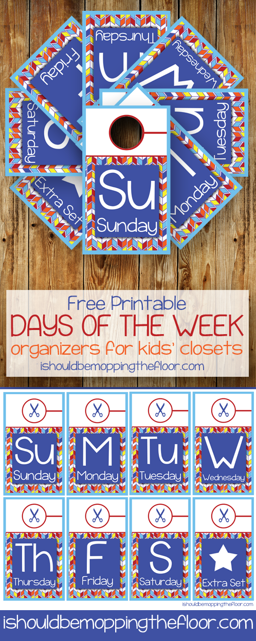 Free Printable Kids' Closet Daily Organizers | Instant Download