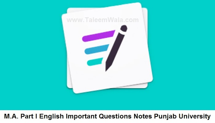 MA English Part I Important Questions Notes (Novel) PU