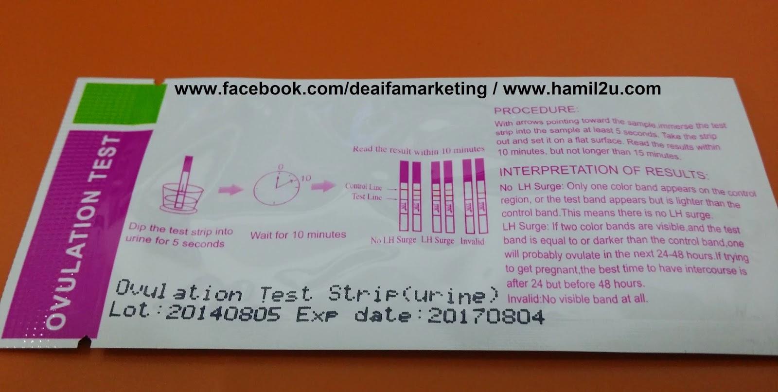 ovulation test kit murah, opk, pregnancy test murah, ovulation predictor kit, cheapest, rm1, borong,deaifa marketing, ovulation test, hamil2u.com, opk deaifa, upt deaifa, 60sen