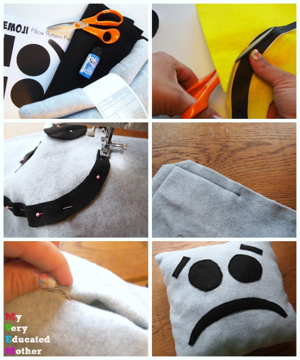 How to sew a quick and easy emoji pillow!
