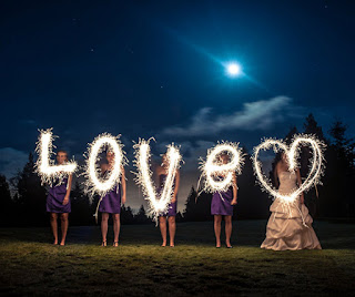 Sparkler Writing Art
