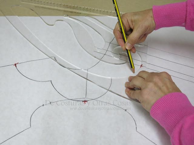 como trazar un cuello con la regla de curvas