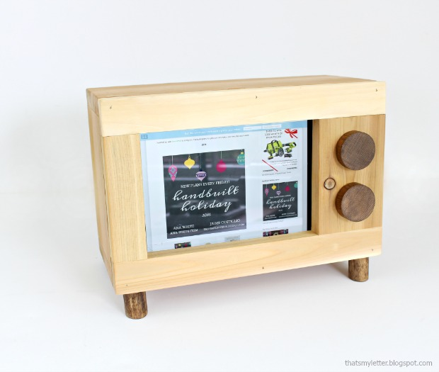 diy ipad holder retro tv