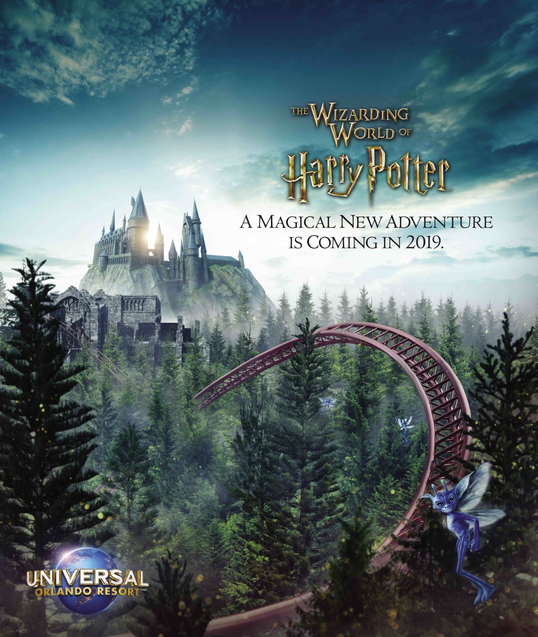 First Look at The Wizarding World of Hogsmeade New Rollercoaster