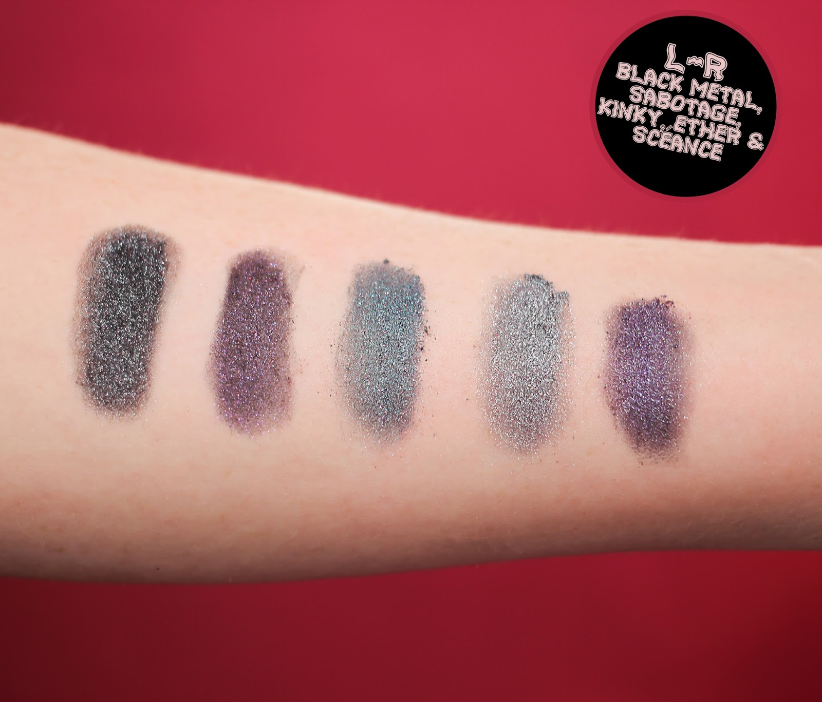 Concrete Minerals Blackest Black Eyeshadow Set Swatches - The Goodowl