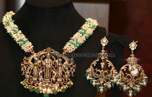 Pearls Set with Balaji Pendant