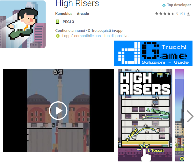 Trucchi High Risers Mod Apk Android v2.1