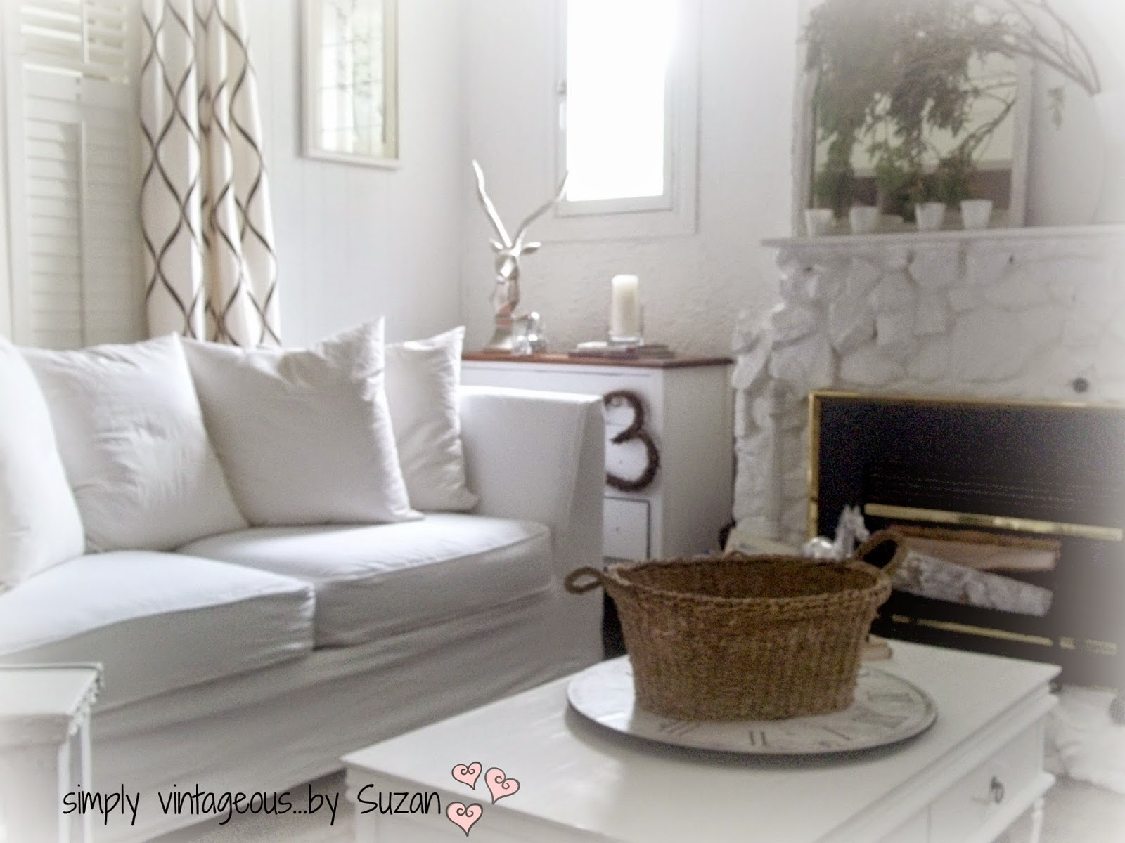 White cottage living room
