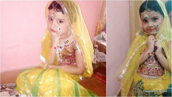 4 yr girl dressed as radha