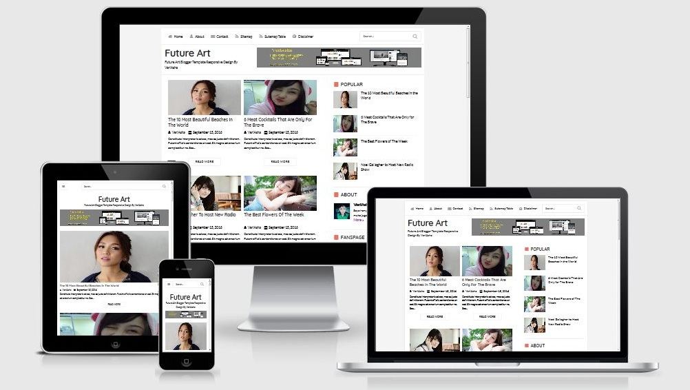 Future Art Template Blogger Premium Responsive Dan Seo Friendly