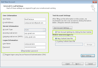Cara Set Up POP dan SMTP di Outlook 2010 3