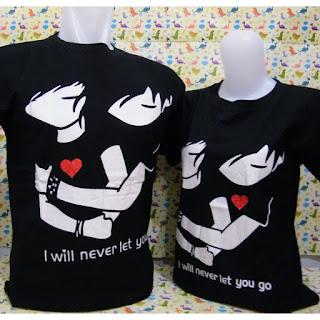 Jual Online Hug Me Couple Murah di Jakarta Bahan Combed Terbaru