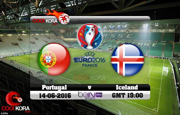 مشاهدة مباراة البرتغال وأيسلندا اليوم 14-6-2016 بي أن ماكس يورو 2016