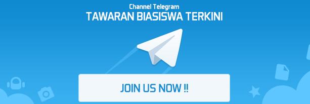 Channel Telegram Tawaran Biasiswa Terkini