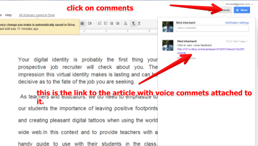comment on pdf with google docs