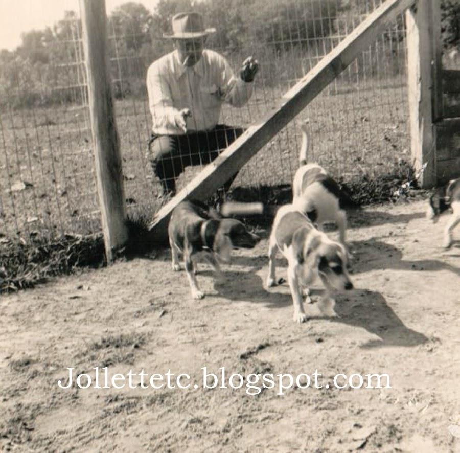 Fred Slade Sr. and his hunting dogs http://jollettetc.blogspot.com