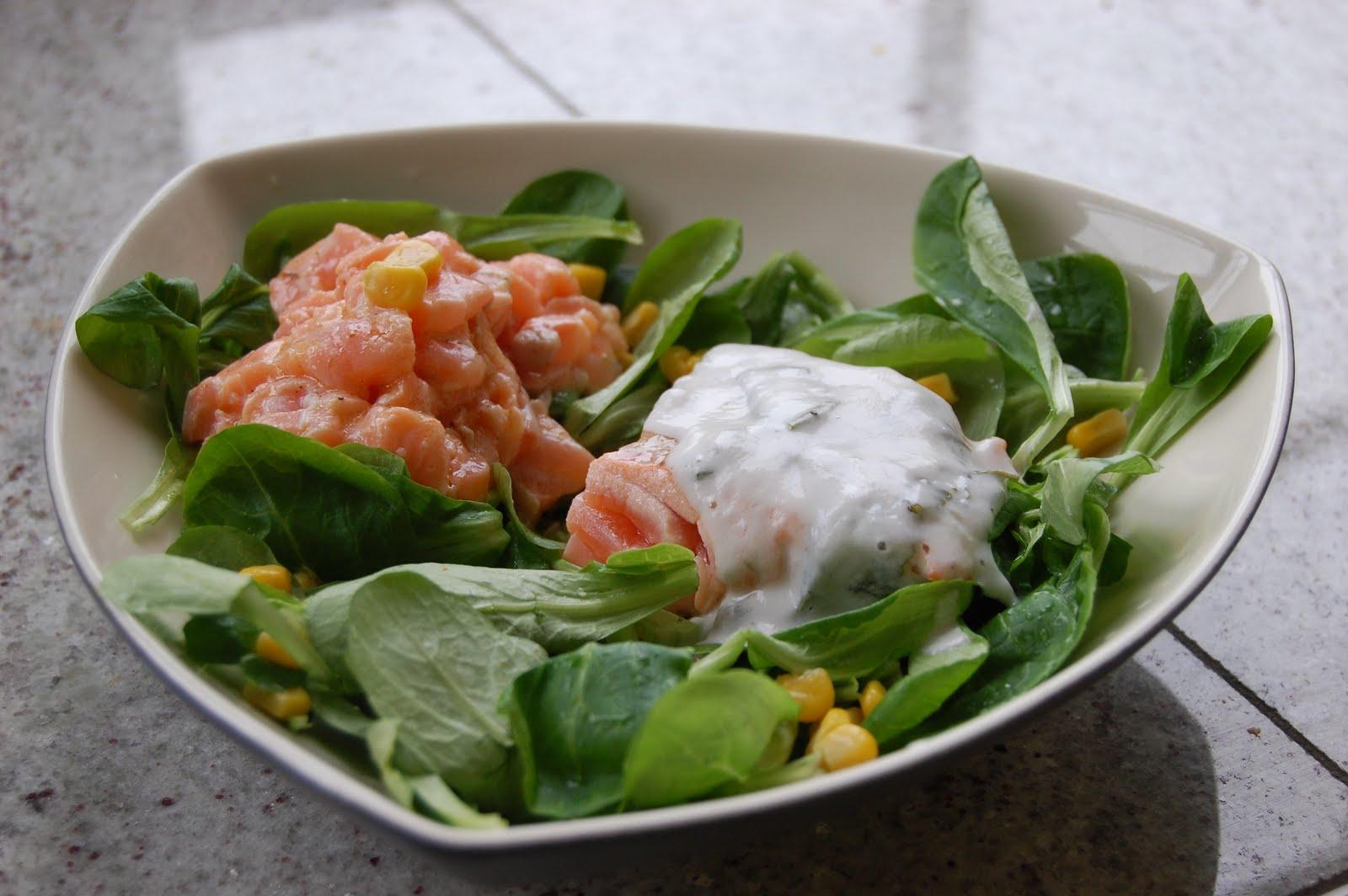 parts de plaisir salade de bl aux deux saumons. Black Bedroom Furniture Sets. Home Design Ideas