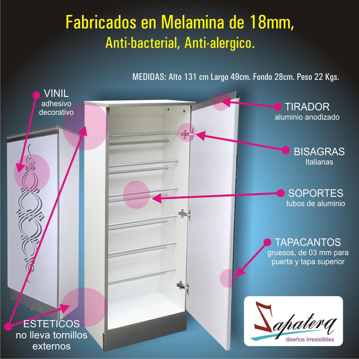 Espacios organizados zapateras for Zapateras para closet pequenos