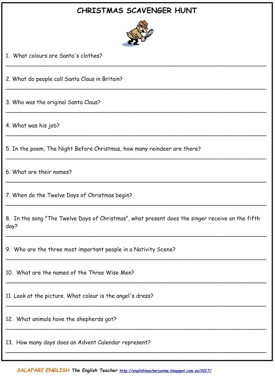 The English Teacher: diciembre 2017