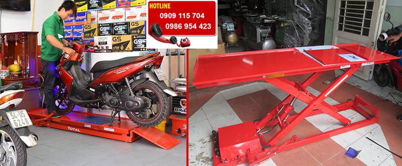 Bàn nâng xe máy cơ - điện dành cho tiệm sửa xe máy