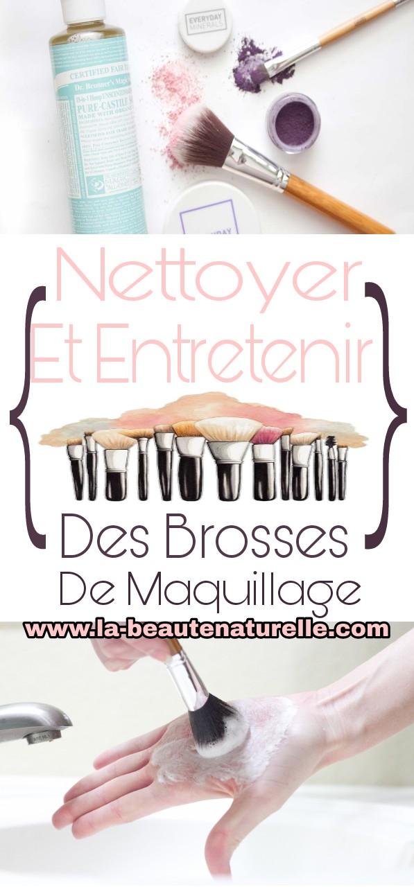 Nettoyer et entretenir des brosses de maquillage
