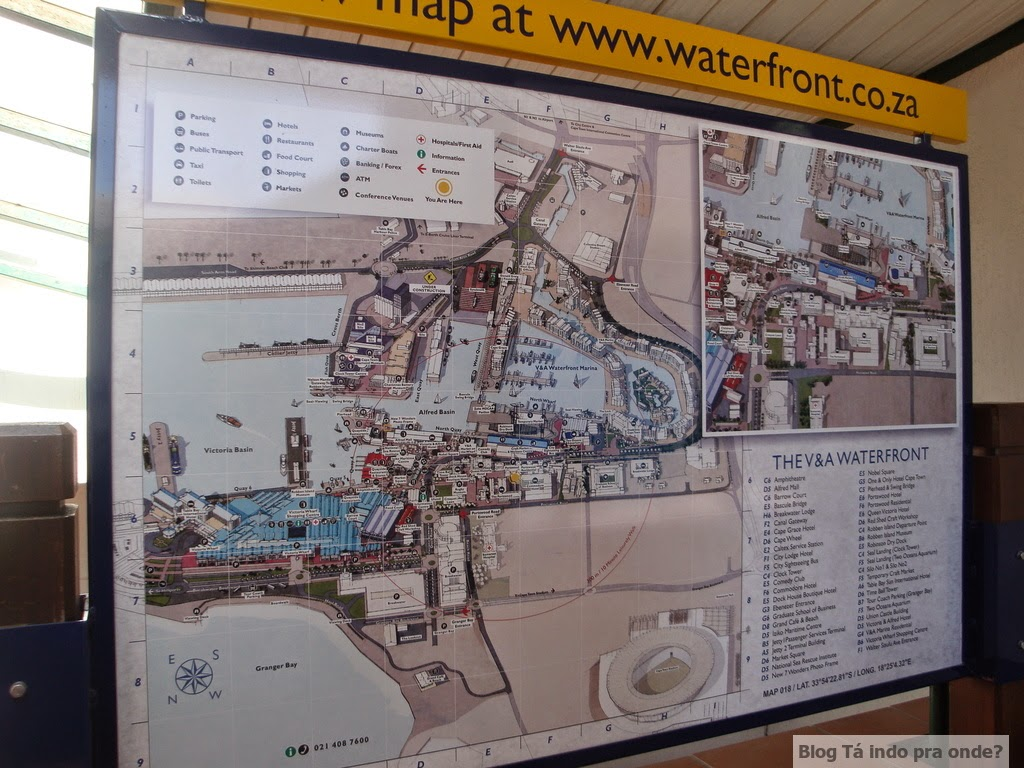 mapa do V&A Waterfront