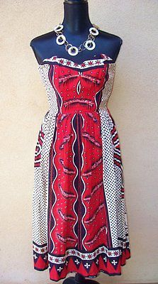 Flashback Summer: Intercultural Vintage fashion - Nassau's Mademoiselle dress - khanga