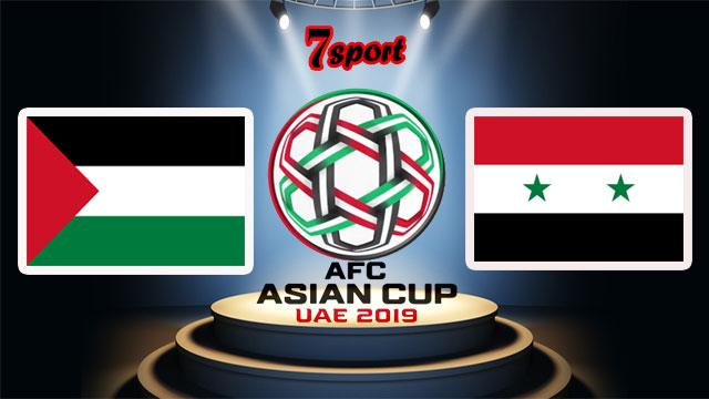 موعدنا مع  مباراة سوريا وفلسطين  بتاريخ 06/01/2019 كأس أسيا