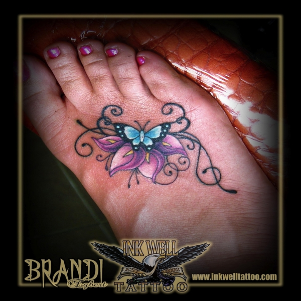 lily and butterfly tattoos photos gallery