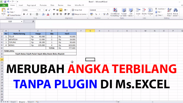 Cara Merubah Angka Menjadi Terbilang di Ms Cara Merubah Angka Menjadi Terbilang di Ms.Excel - TANPA PLUGIN!